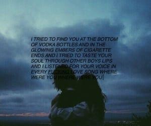 break up, cigarette, and sadness image
