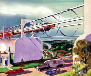 1930s, monorail, and Retro Futurism image