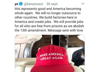 kayne west and donal trump image