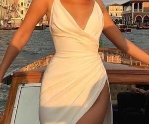 white, bella, and dress image