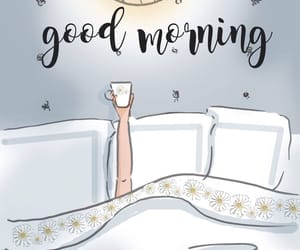 bed, coffee, and art image