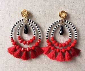 craft, earings, and beauty image