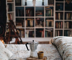 coffee, book, and room image