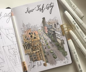 art, draw, and new york city image