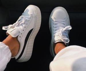 shoes, puma, and white image