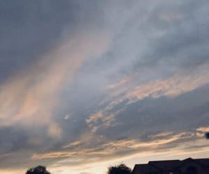 cloudy, sun set, and love it image