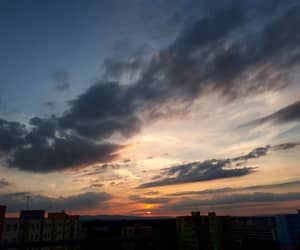 cloudy, dawn, and dusk image