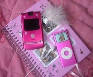 pink, 2000s, and notebook image