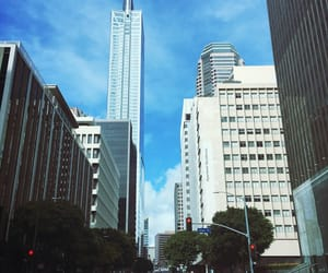 blue sky, city, and building image