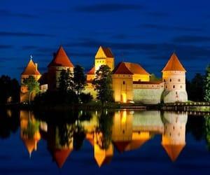 Lithuania and trakai island castle image