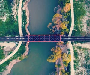 aerial photography, aerial view, and bridge image