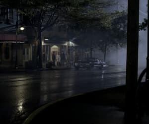 mist, night, and people image