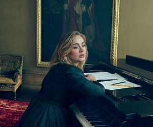 Adele, singer, and piano image