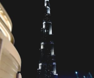 travel, dubai by night, and dubaï image