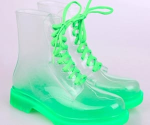 boots, green, and одежда image