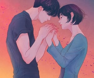 art, anime, and couple image