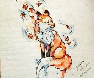 fox, drawing, and tattoo image