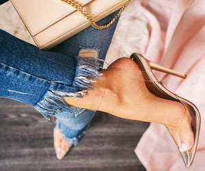 eleganza, scarpe, and jeans image