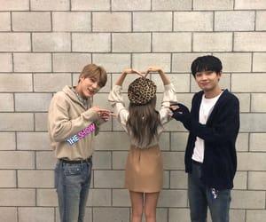 yeeun, jeno, and kim yong guk image