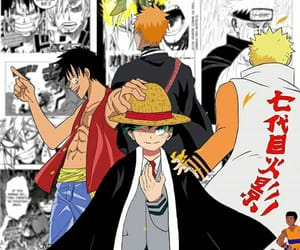 bleach, naruto, and onepiece image