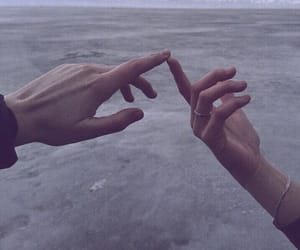 beach, sea, and hands image