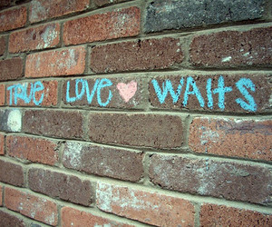 love, true, and wall image