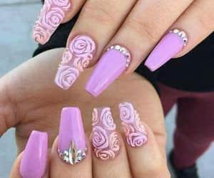 belleza, nails, and rosa image