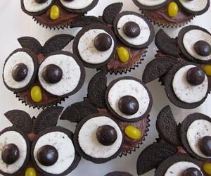 cupcake, owl, and oreo image