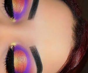 artist, eyebrows, and purple image