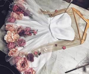dress, clothes, and flowers image