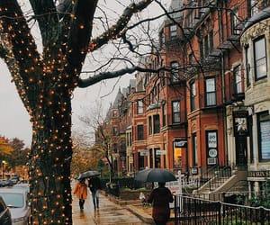 autumn, rain, and street image