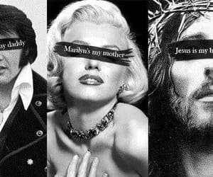 lana del rey, jesus, and Marilyn Monroe image