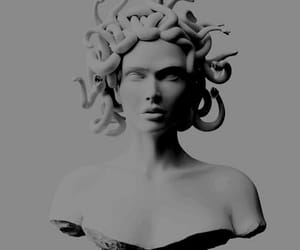 medusa, white, and art image