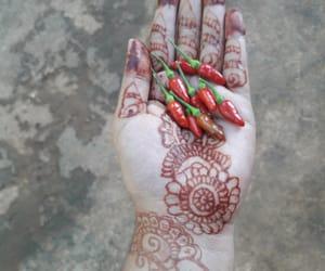 beautiful, chilli, and hand image