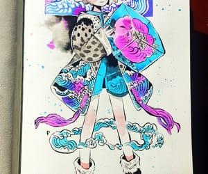 watercolor, drawings, and drawing image