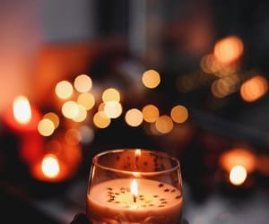 candle, autumn, and lights image