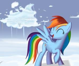 fan art, my little pony, and rainbow dash image
