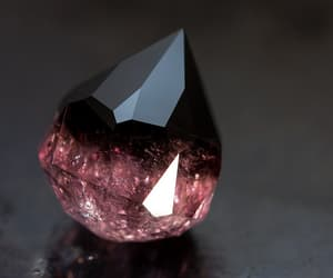 black, pink, and diamond image