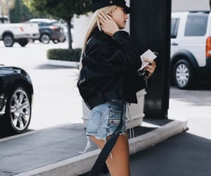 black, bomber, and hailey image