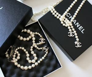 chanel, pearls, and luxury image