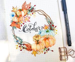 october, pumpkin, and bujo image