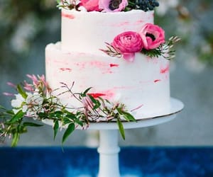 bright, buttercream, and cake image