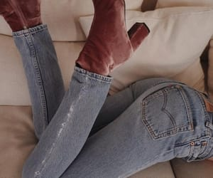 bed, home, and jeans image