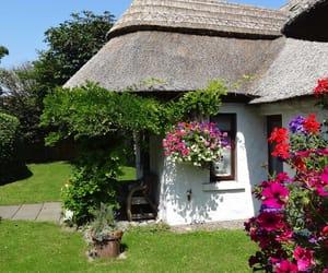 irish thatched cottage image