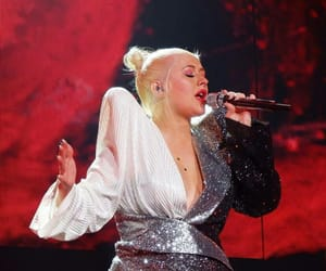 christina aguilera, glitter, and glow image