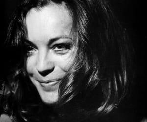 black & white and Romy Schneider image