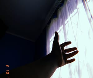 blue, hands, and sun image