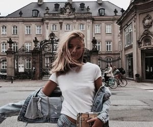 beauty, chic, and denim image