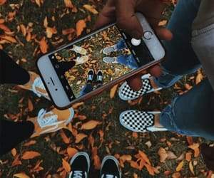 autumn, fall, and vans image
