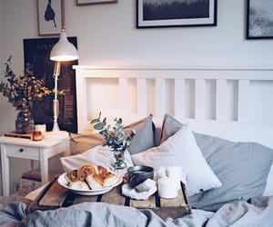breakfast, bedroom, and design image